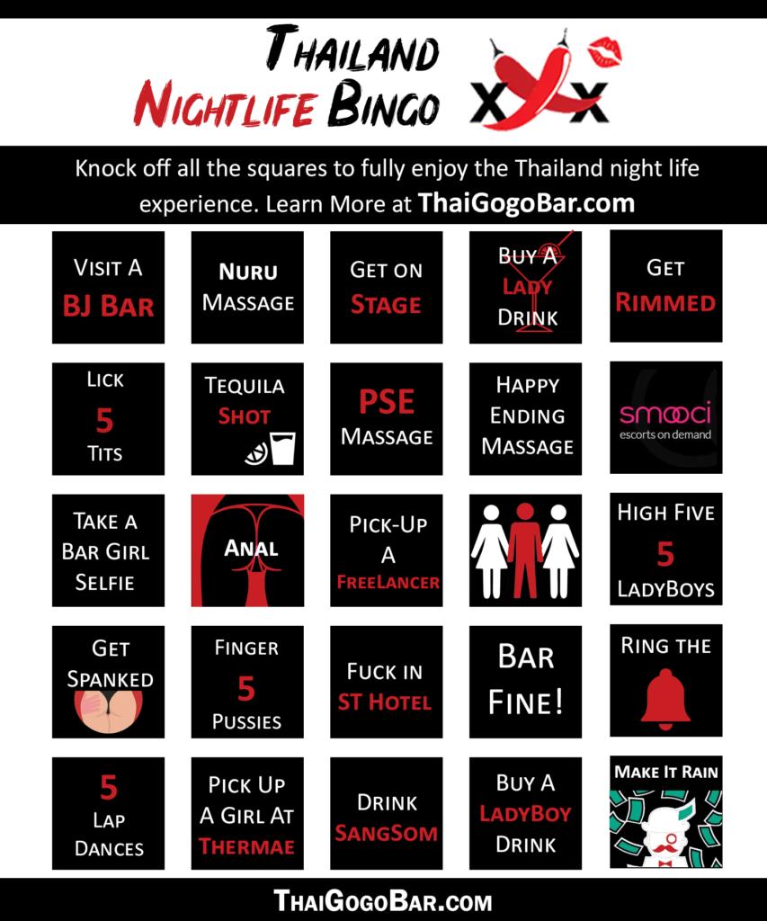 Thailand Nightlife Bingo Game